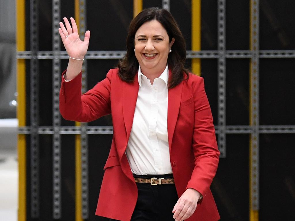 Annastacia Palaszczuk and Labor are doing everything they can to win this month's election. Picture: NCA NewsWire / Dan Peled