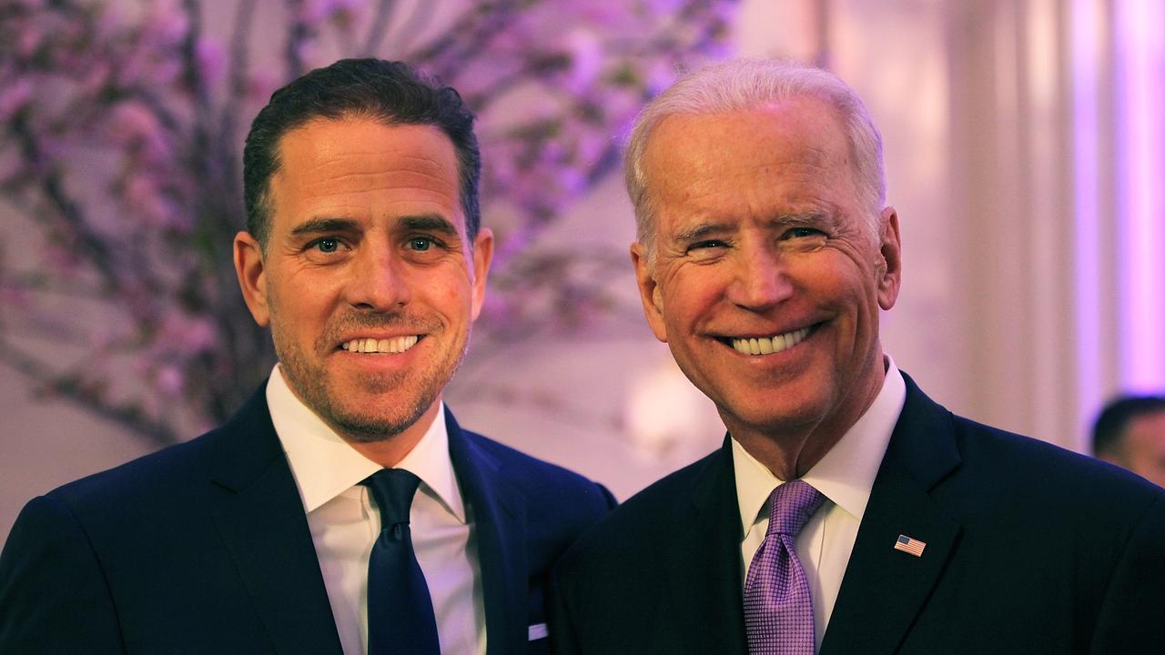 Hunter Biden with Vice President Joe Biden. Picture: Teresa Kroeger/Getty