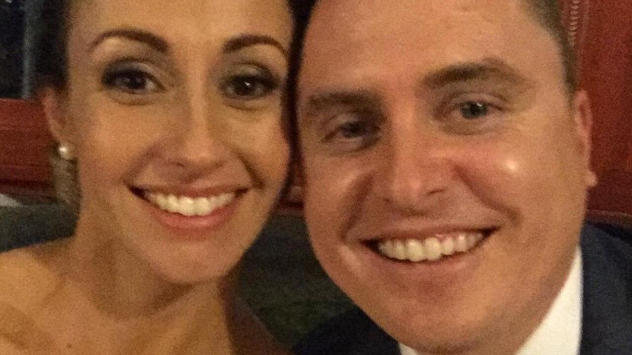 Samantha and Cam Bladwell on their wedding day.