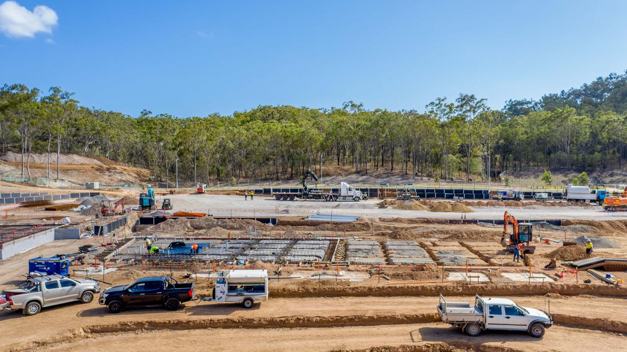 Gladstone Region Councillor Darryl Branthwaite said a variety of machinery was used to complete bulk earthworks for Stage 1b.