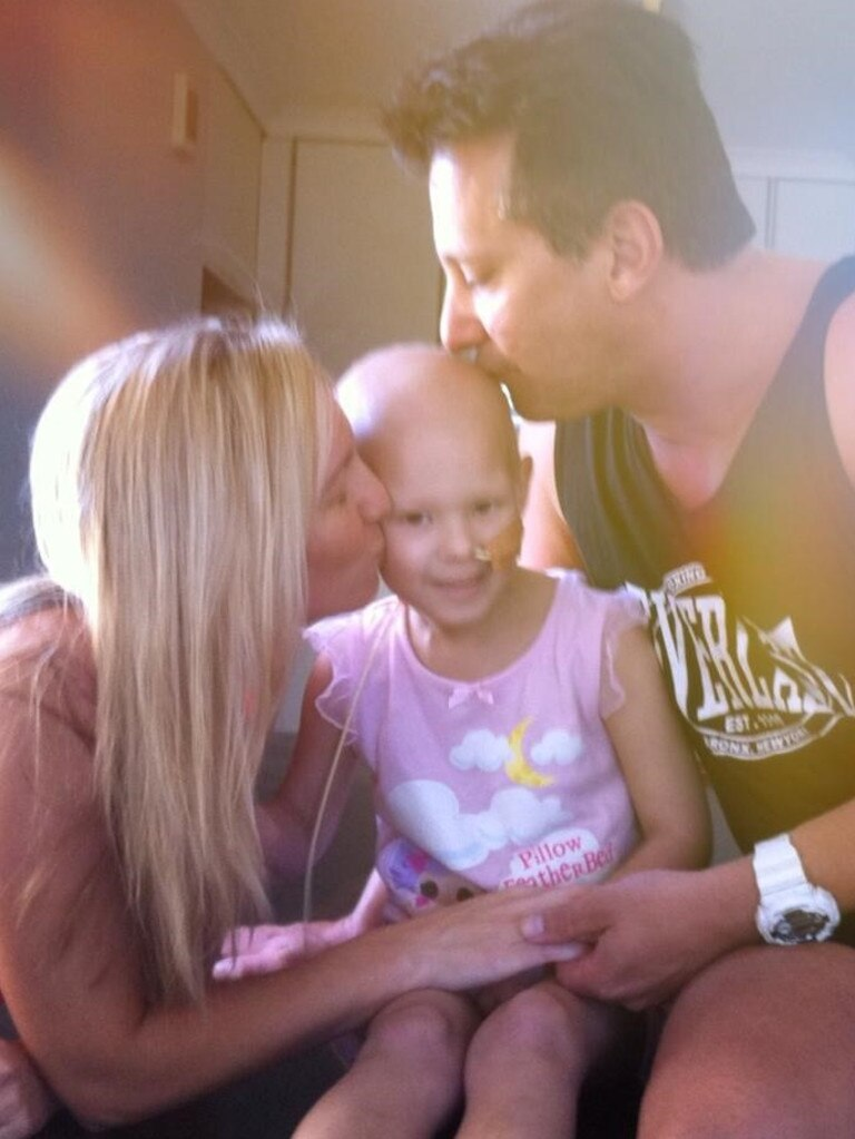 "Her mum Kirsty said before her daughter's diagnosis she ""didn't even realise that kids got cancer"". Picture: Supplied"