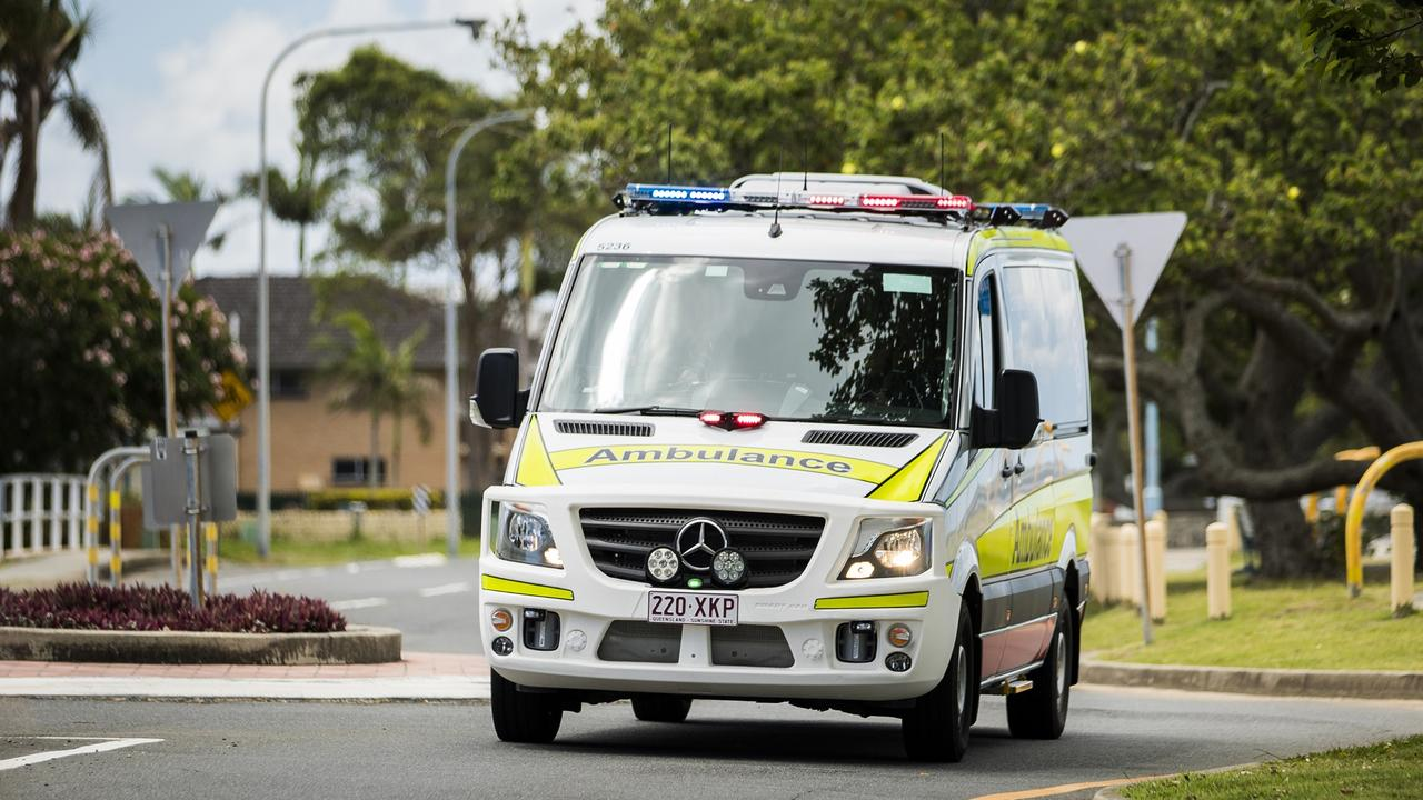 Queensland Ambulance Service was at the scene. Picture: Supplied