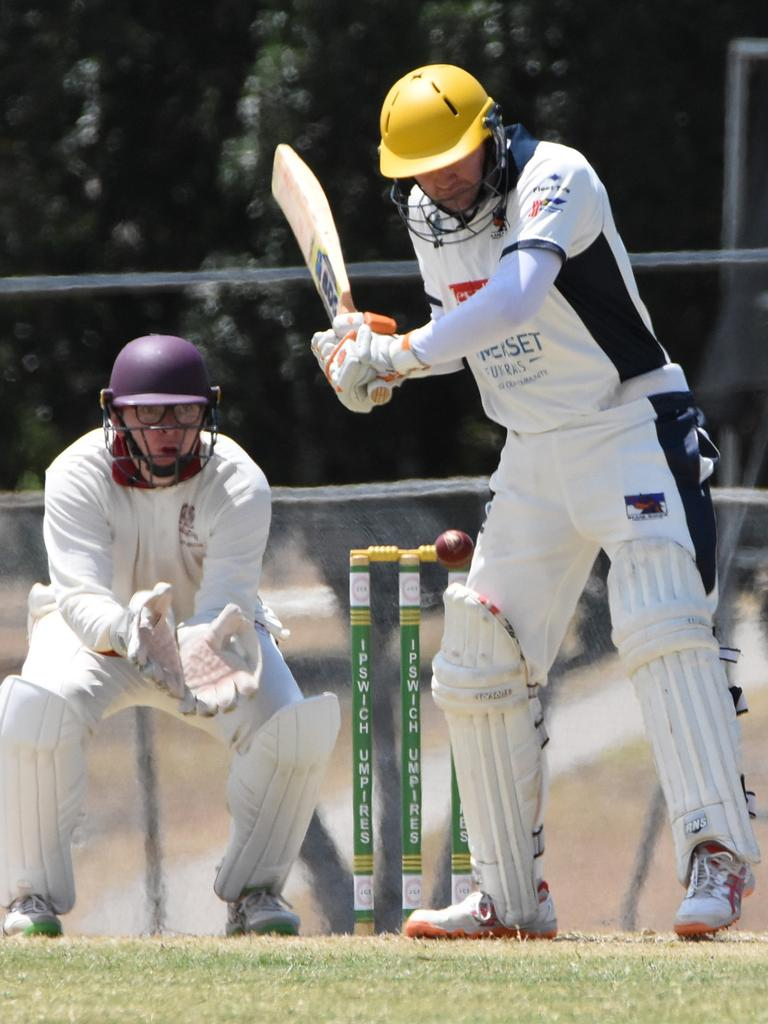 Action from the Harding Madsen Shield cricket match between Centrals and Laidley at Mark Marsh Oval. Picture: Gary Reid