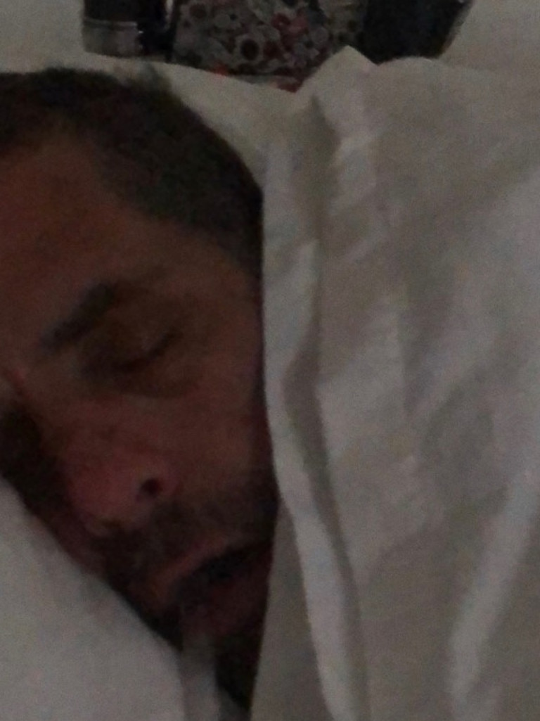 A drugged out Hunter Biden with crack pipe. Picture: Supplied