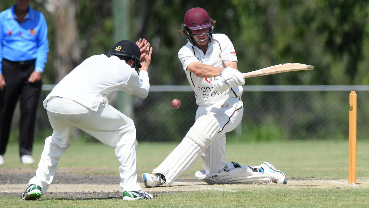Ipswich Hornets batsman Harry Wood shared in a vital partnership with his brother Jack. Picture: Rob Williams