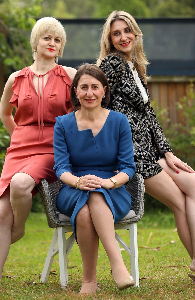 Gladys Berejiklian had not even told her sisters Rita (left) and Mary (right) about her relationship with Maguire. Picture: Sam Ruttyn
