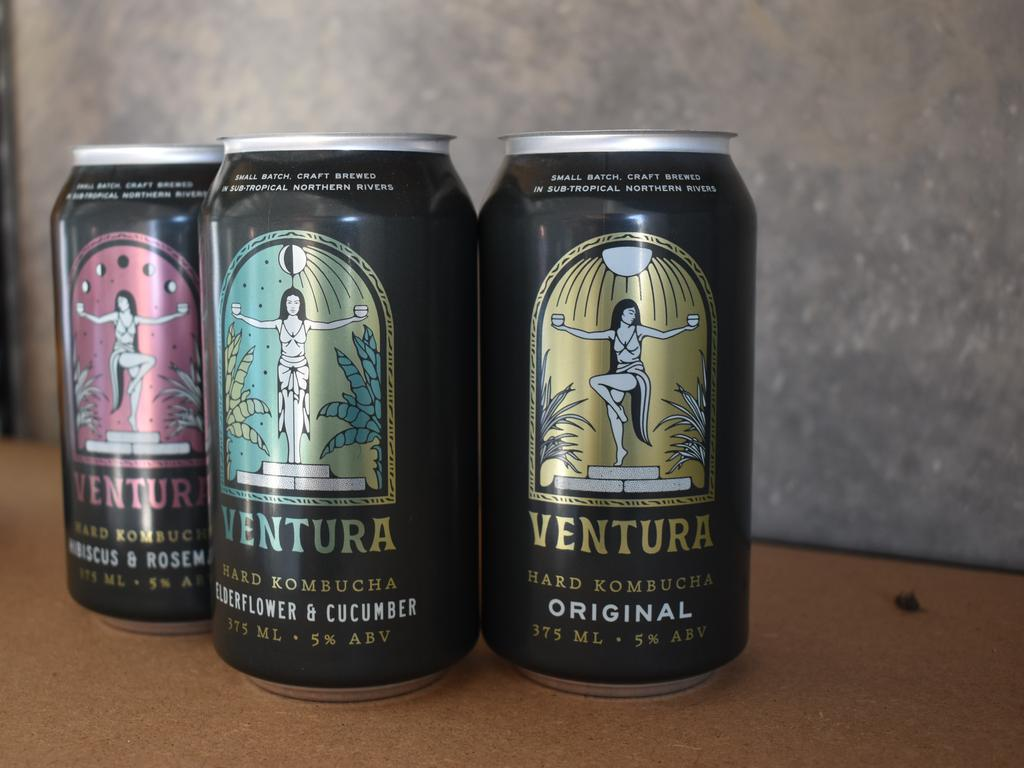 Ventura Brewing currently produces three versions of alcoholic kombucha including original, elderflower and cucumber and hibiscus and rosemary.