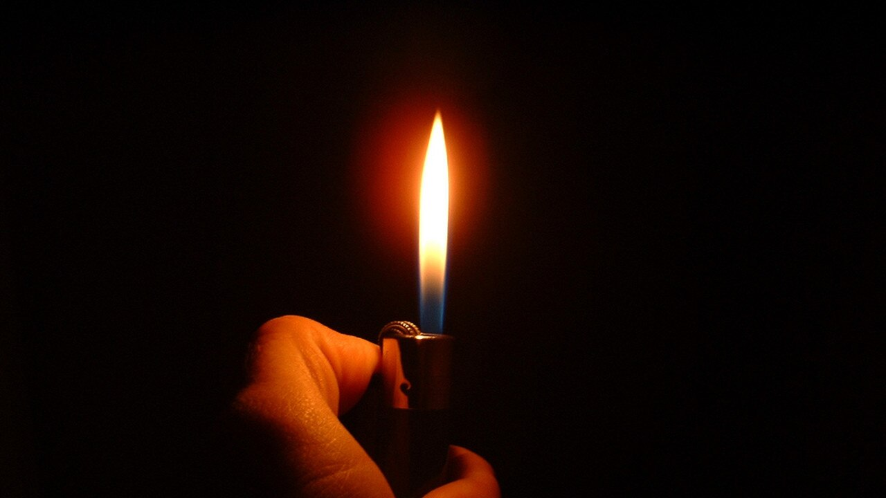 The man lit himself on fire with a cigarette lighter. Photo supplied