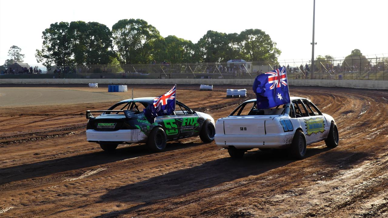 The 2020/21 season kicked off at Kingaroy Speedway over the weekend with an emotional trubute to two fallen members. Photo/Holly Cormack.