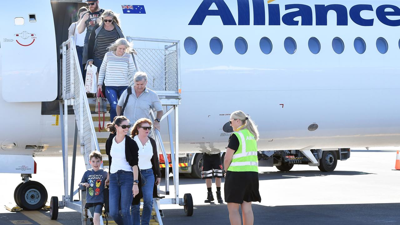 Sunshine Coast Airport has spread its wings to fly north for the first time ever, officially launching its inaugural Alliance Airlines service to Cairns. Photo: Patrick Woods.