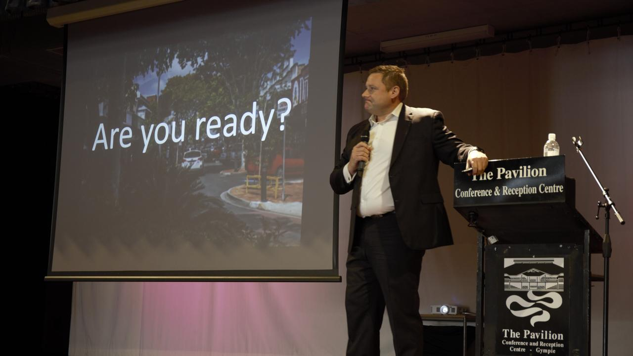 Neil Glentworth at Gympie Chamber of Commerce breakfast on Monday morning.