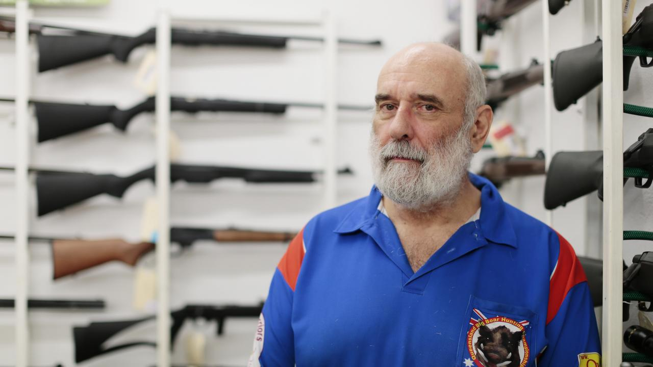 LOCK, STOCK & BARREL: Ron Owen pictured in his Firearms shop Owens Guns in Gympie.