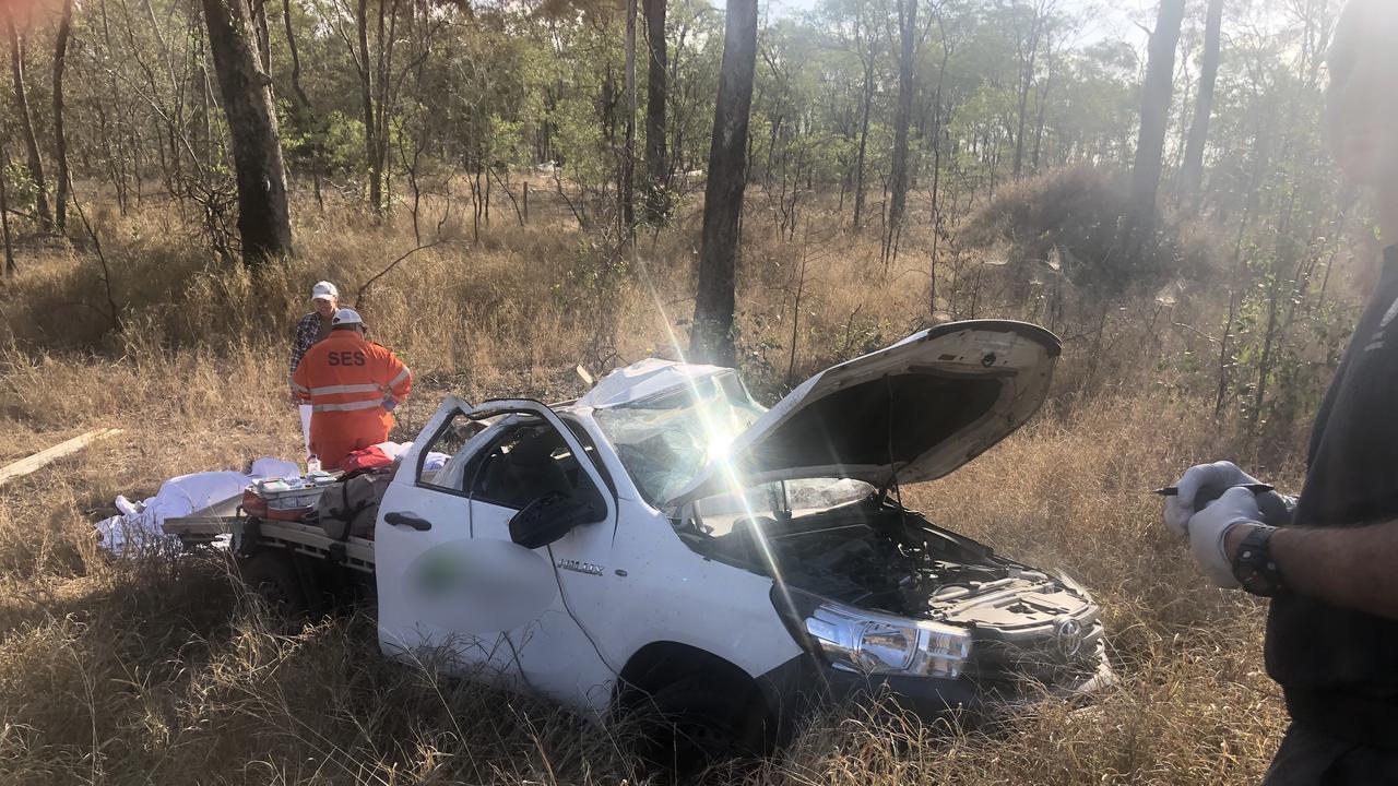 The wreckage of the crash near Marlborough this morning, October 19.