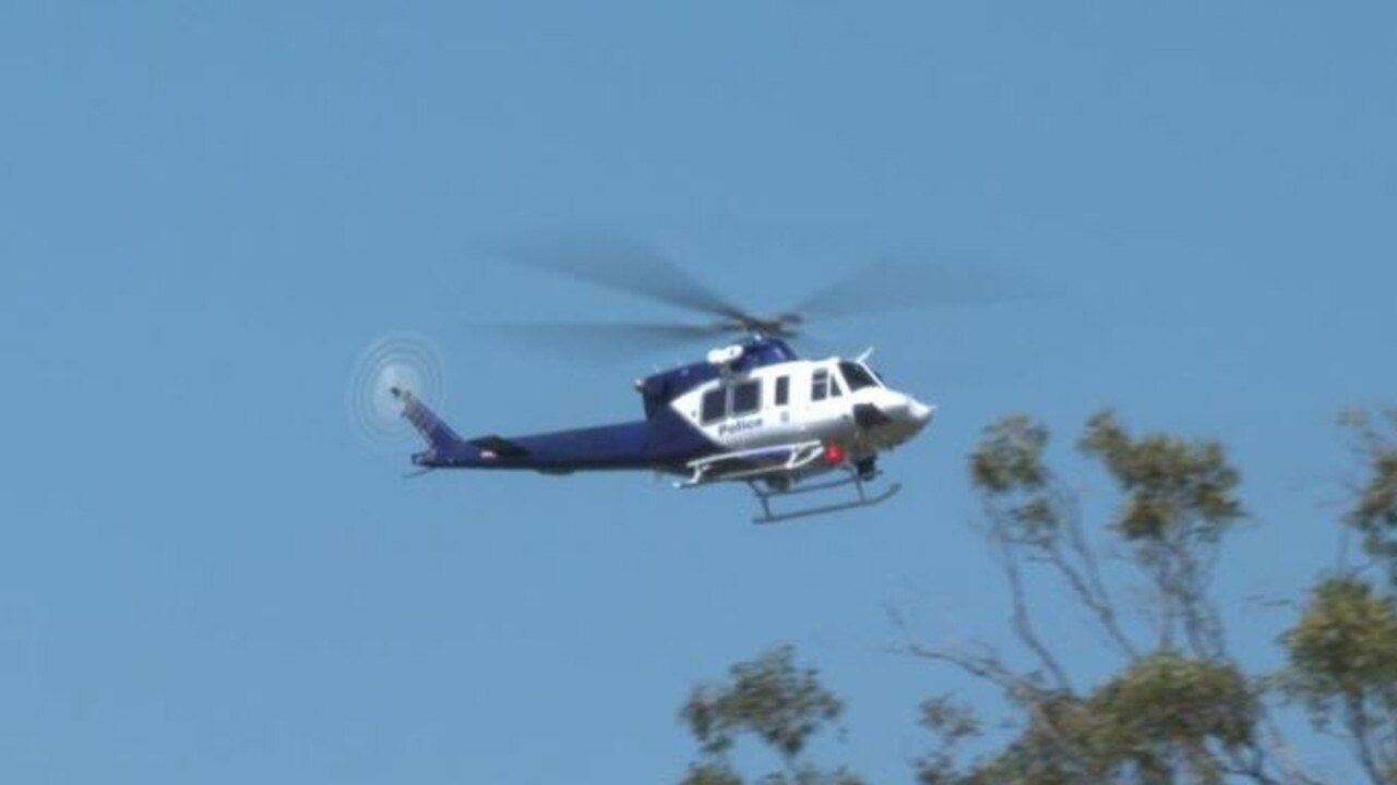 Polair were called in to help find the man on the run.