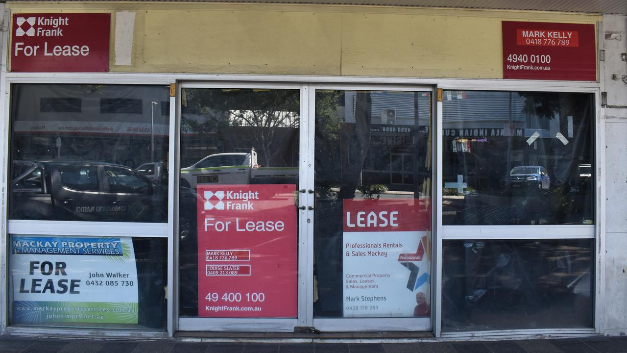 91 Victoria St was one of the many empty retail and commercial spaces in Mackay's CBD in September 2020. Picture: Zizi Averill