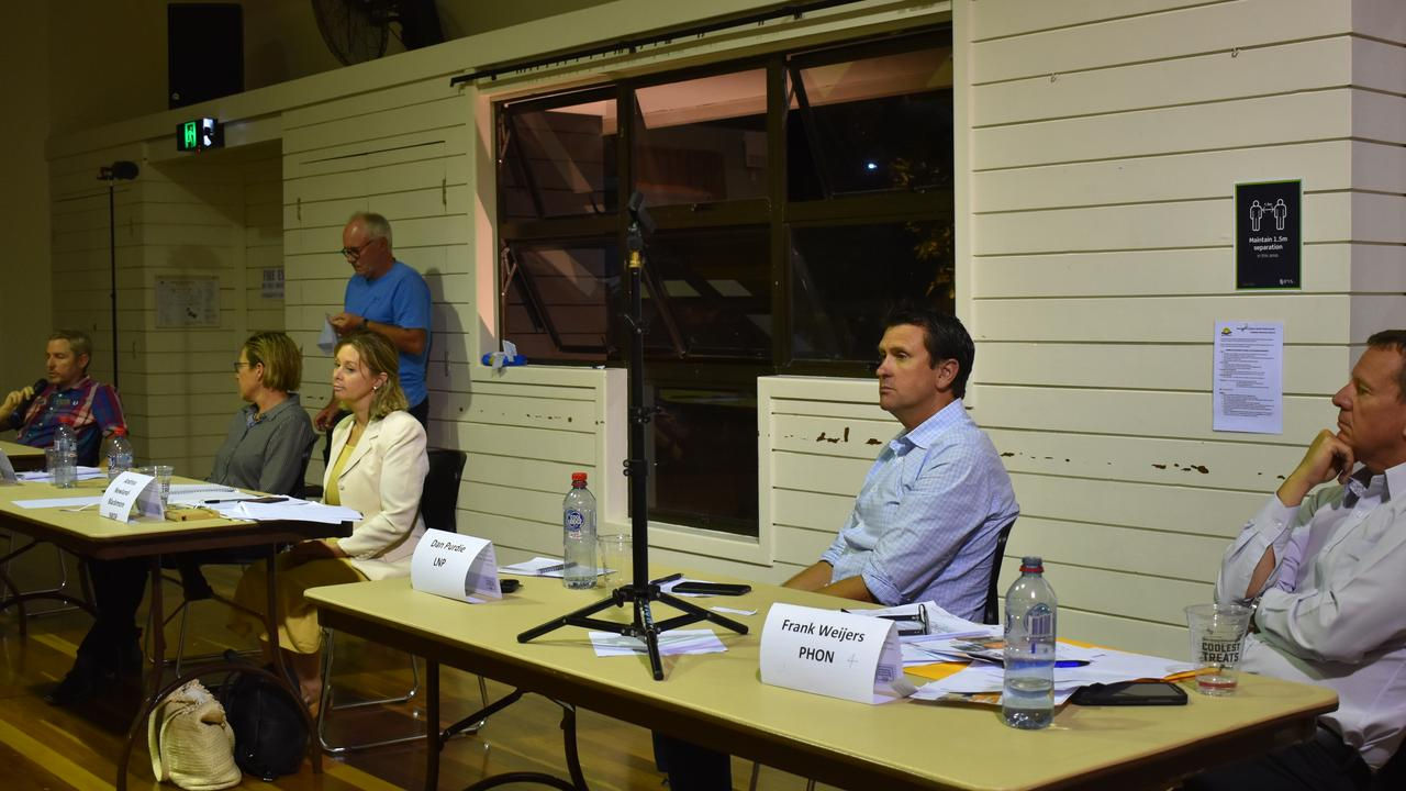 One Nation candidate Frank Weijers, LNP's Dan Purdie, Informed Medical Options Party candidate Andrea Newland-Blackmore, Labor's Melinda Dodds and Greens Candidate Daniel Bryar discuss key topics ahead of the 2020 Queensland State Election.