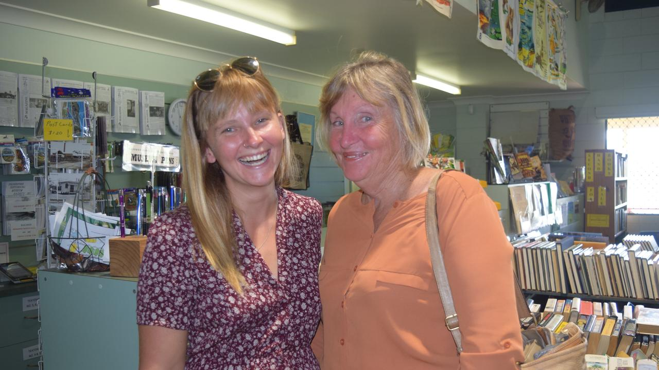 Elouise Studt and Stella Studt at the Proserpine Museum's Book Bonanza last year. Photo: Shannen McDonald