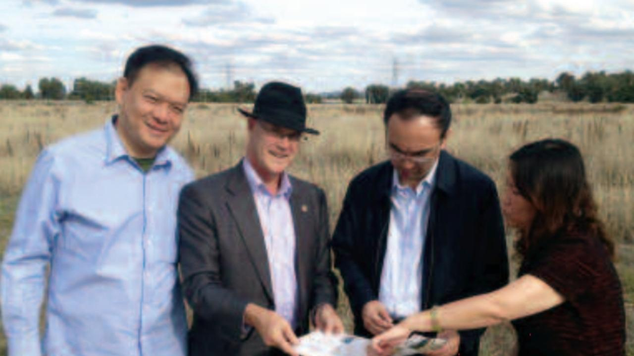 Humphrey Xu (left) in Wagga in 2013. Picture: Facebook