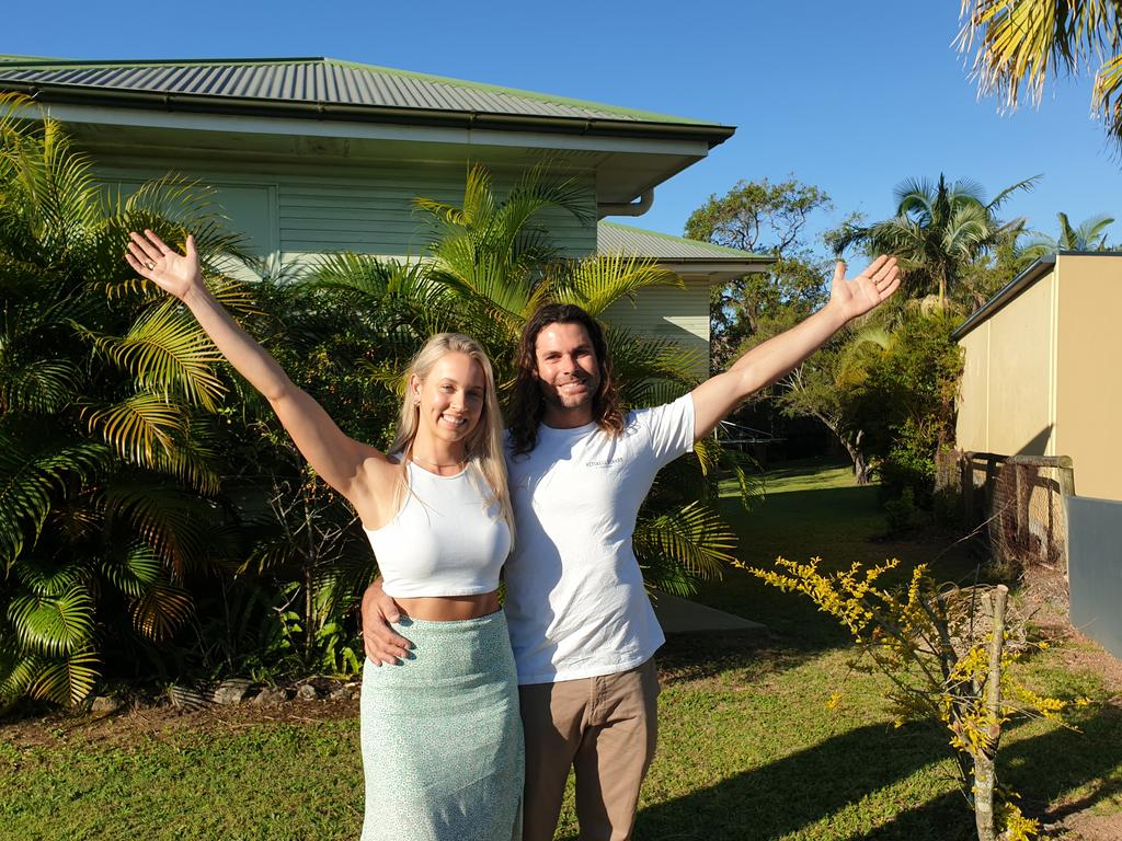 Marissa Cumming and Luke Richards are delighted to be the new owners of 112 Buderim Ave, Alexandra Headland.