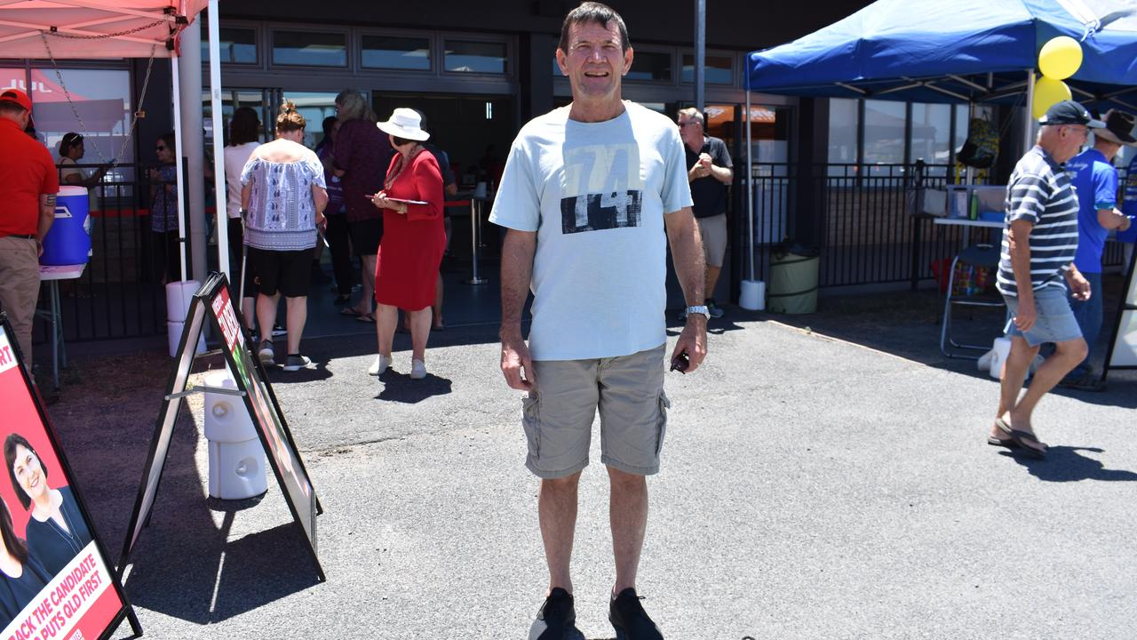 Leo Connolly from The Leap voted at the Mackay Showgrounds. Picture: Melanie Whiting
