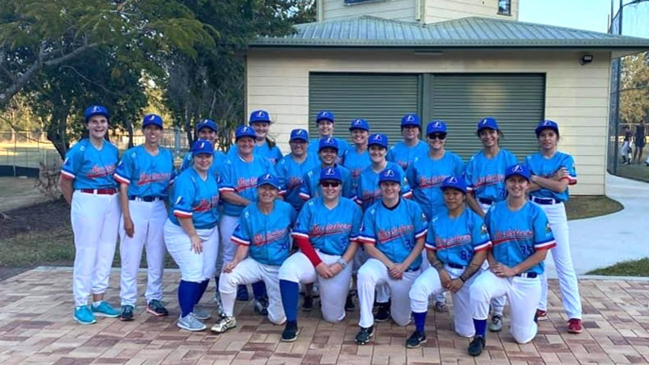 The Ipswich Musketeers 2020/21 women's baseball squad.