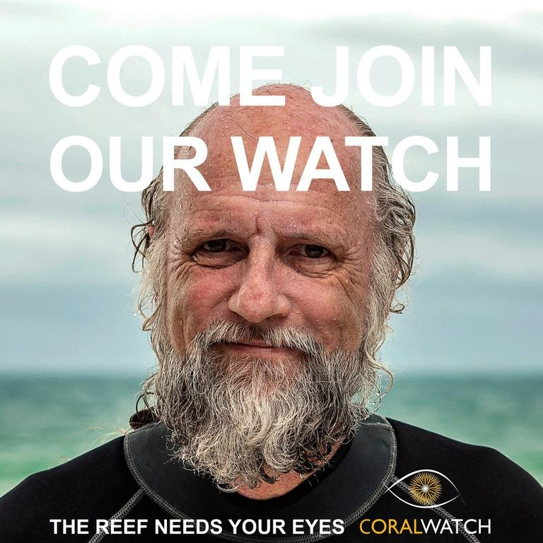 REEF PROTECTION: Bundaberg local Sean Kelly features in CoralWatch campaign.