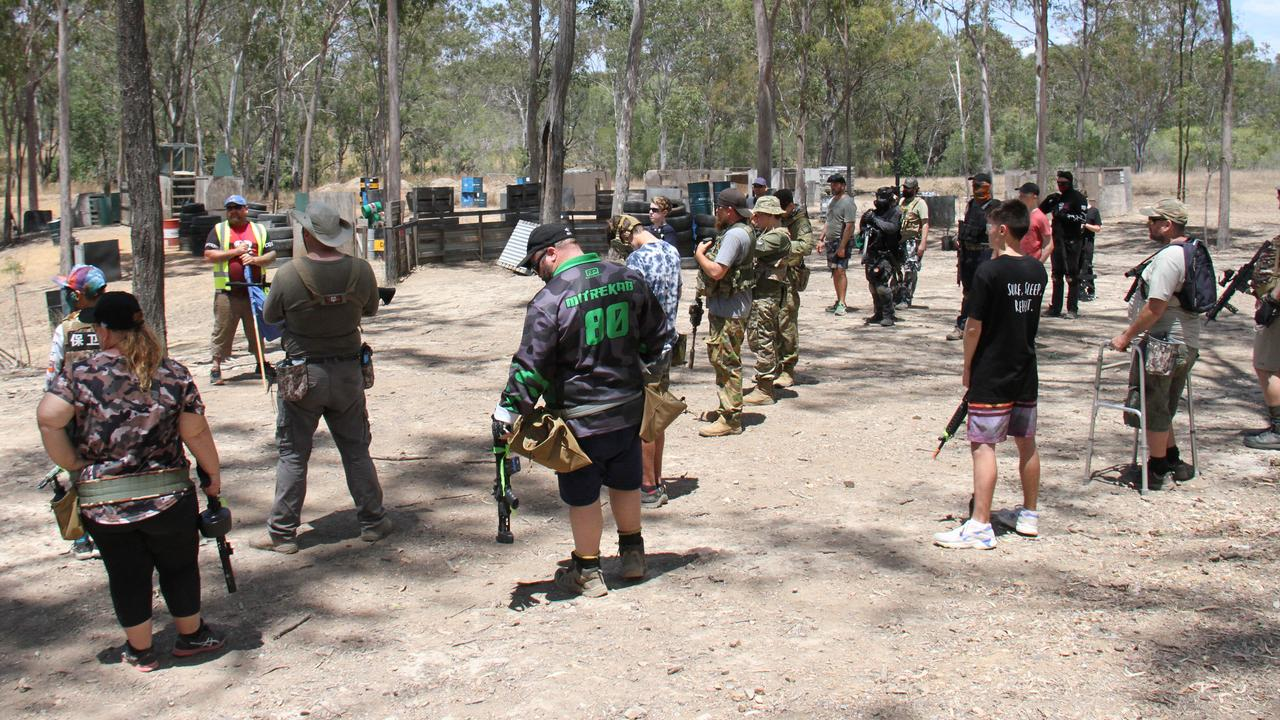 Gel Blasters participants at the CQ Blasters field at Burua. Picture Rodney Stevens