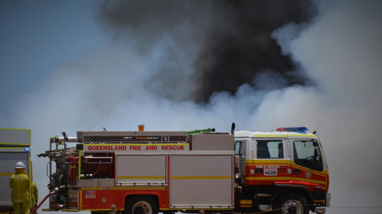 Queensland fire and emergency crews are currenlty battling a grass fire in Wattle Camp.