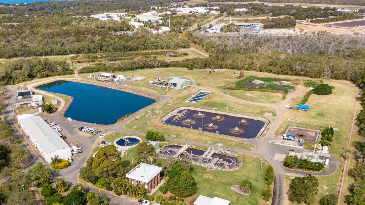 A sewage treatment plant at Hervey Bay.