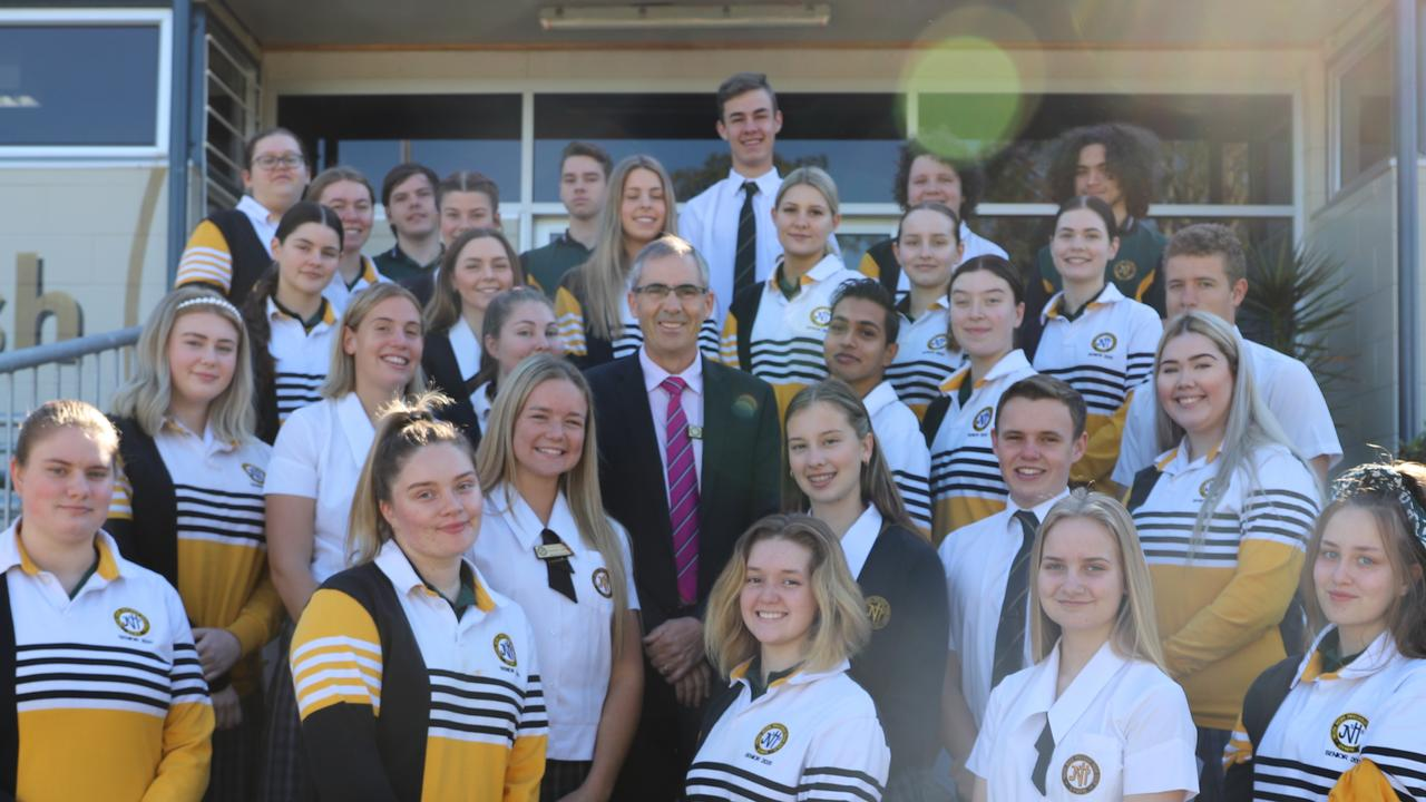 James Nash State High students with principal Jackson Dodd and #27 on the list of Gympie's Most Influential People of 2020.