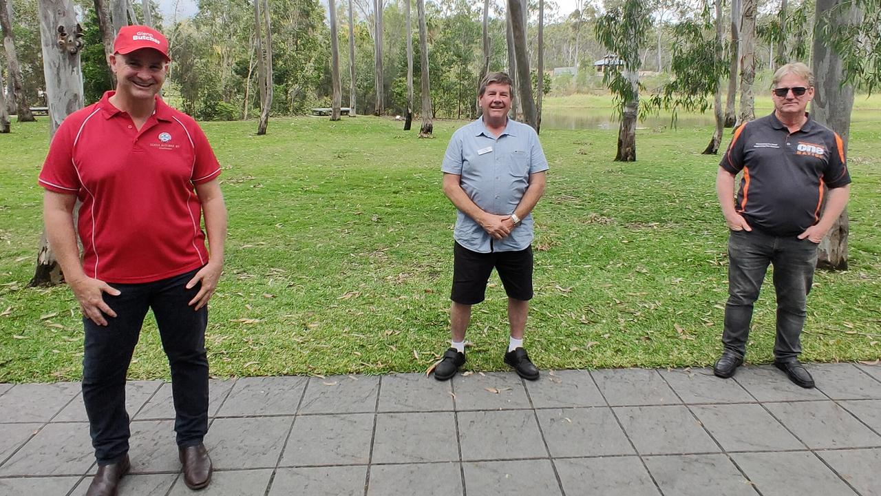 Candidates for the seat of Gladstone in the Queensland Election 2020, incumbent member Glenn Butcher (Labor), Ron Harding (LNP) and Kevin Jorgensen (One Nation). Picture Rodney Stevens
