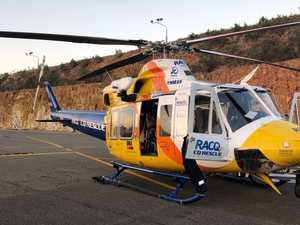 Helicopter deployed after worker injures finger