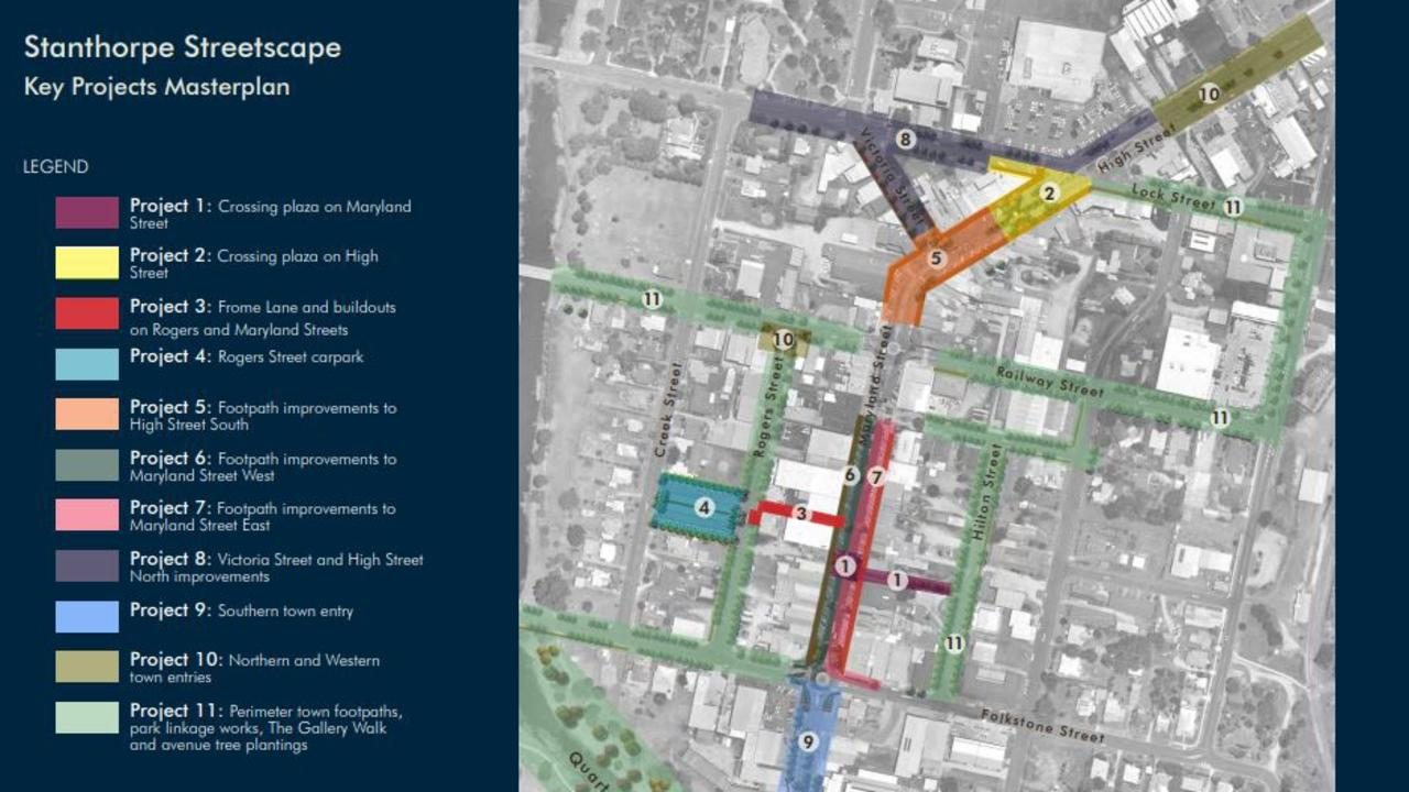 The 11-stage proposal was put together in 2015 to give a facelift to the Stanthorpe CBD.