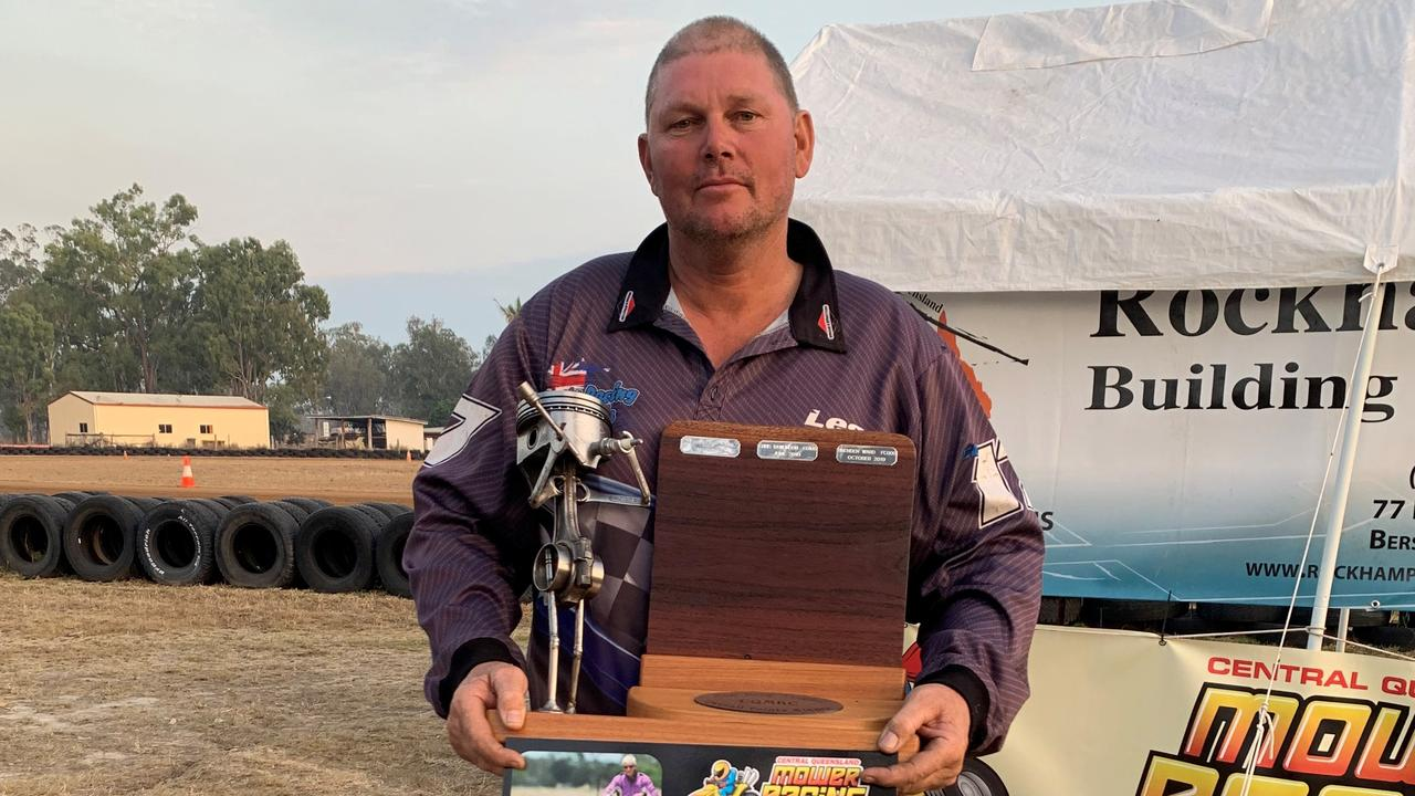 Rockhampton mower racer Les Beckman won the Ken Booy Memorial Trophy for the first time after finishing with the highest points in Sunday's meeting.
