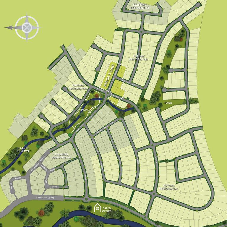 The masterplan for the Sea Haven Estate at Taroomball.