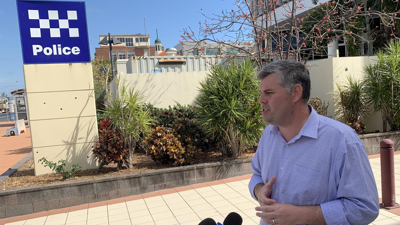 POLICE ANNOUNCEMENT: Police Minister Mark Ryan was in Rockhampton to reveal his government's latest plans to crack down on crime in the region.