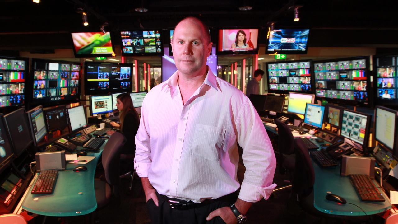 Channel Nine news director Darren Wick at the station headquarters in Willoughby, Sydney.