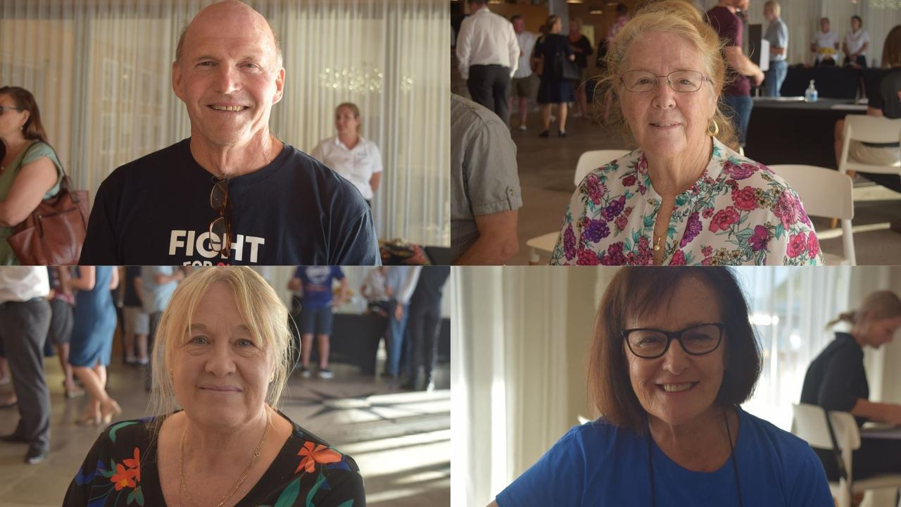 Residents voiced their hopes for the state election at the Whitsunday Coast Chamber of Commerce forum on Thursday, Pictures: Laura Thomas