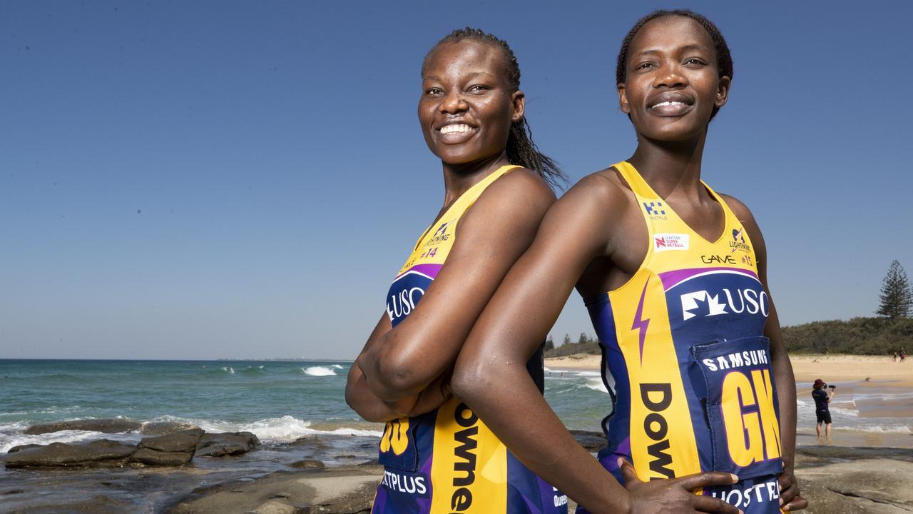 Lightning's Peace Proscovia and Phumza Maweni. Picture: Lachie Millard