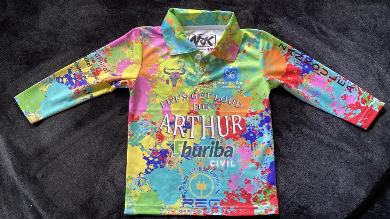 The custom designed shirt made in honour of Loud Shirt Day.