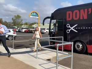 Labor Ministers Roll into Bundaberg on Cuts Bus