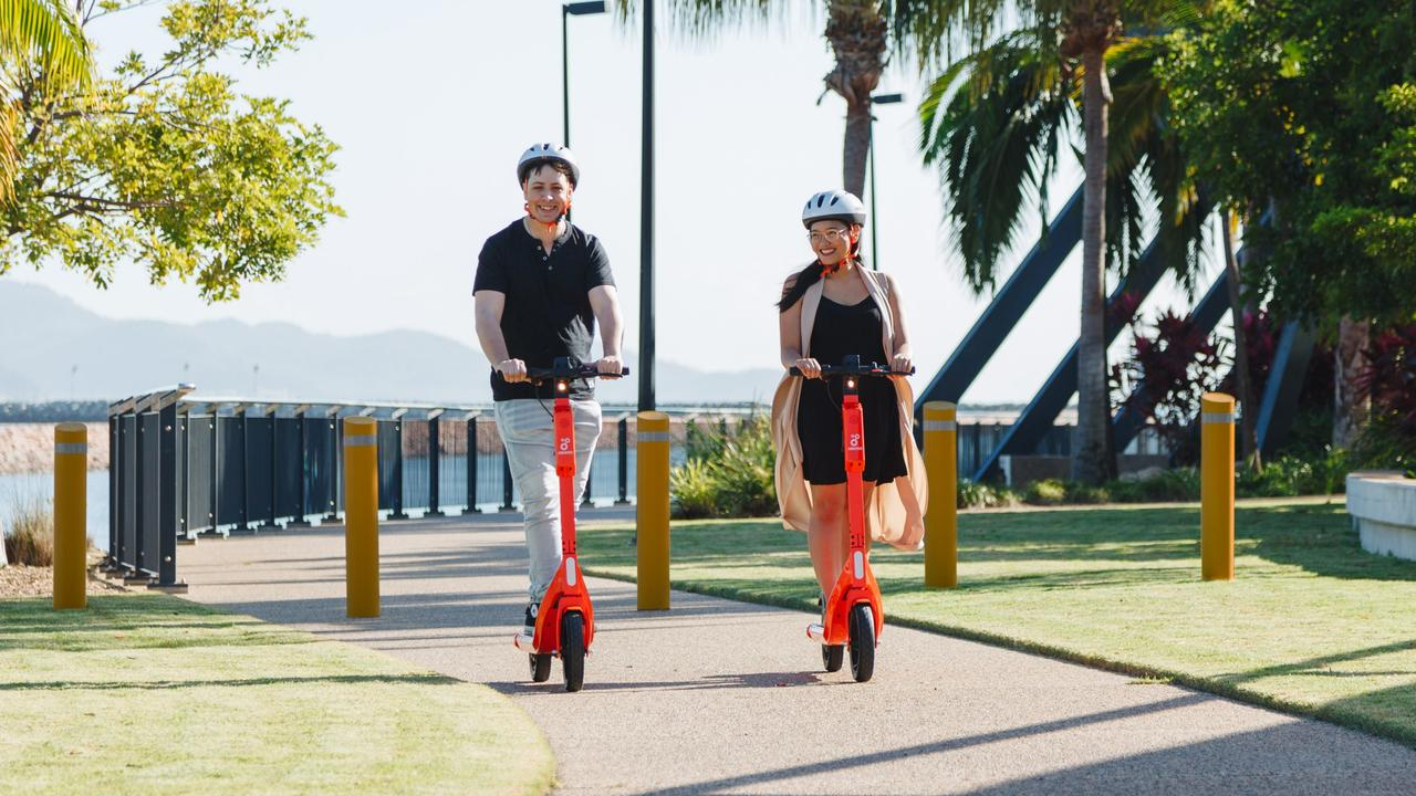 Neuron Mobility e-scooters have rolled out across the city, but police have reminded riders to be safe. Picture: Supplied
