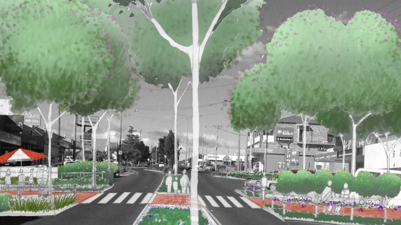 NEW CBD: The proposed High St upgrades would include new crosswalks and upgrades to the street facade.