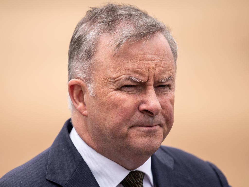 Labor leader Anthony Albanese will go head to head with Mr Morrison at the next election. Picture: NCA NewsWire/James Gourley