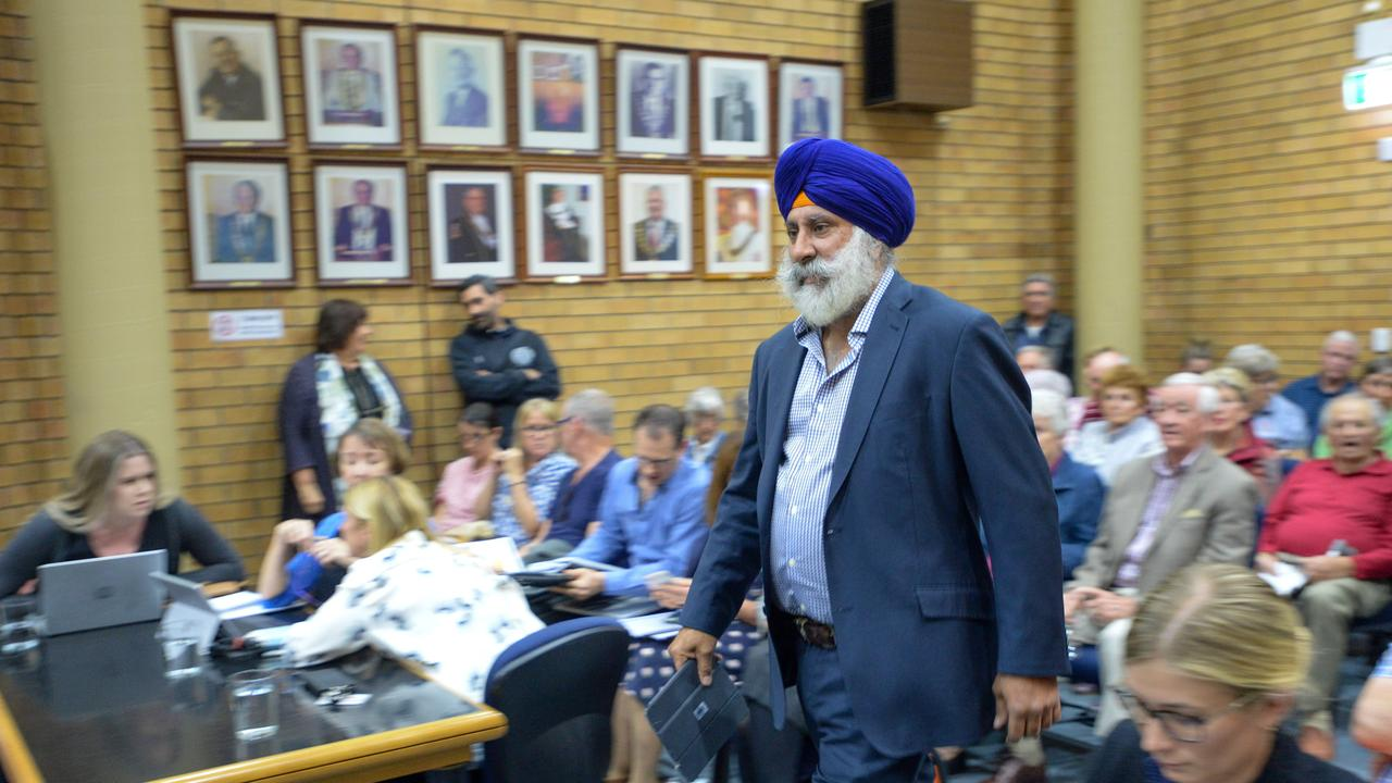 Cr John Arkan during a Coffs Harbour City Council meeting in August last year.