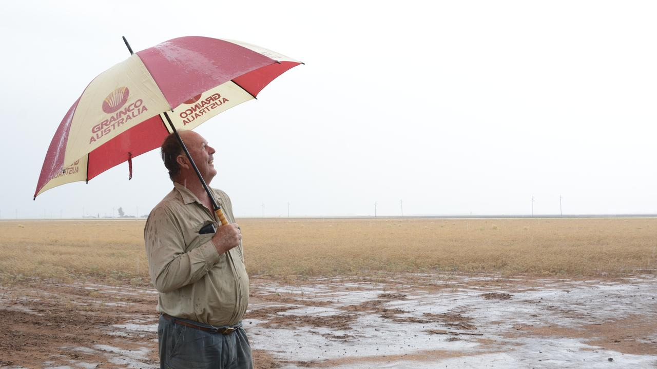Jondaryan grain producer Russell Grundy has mixed feelings about the rain forecast this weekend.