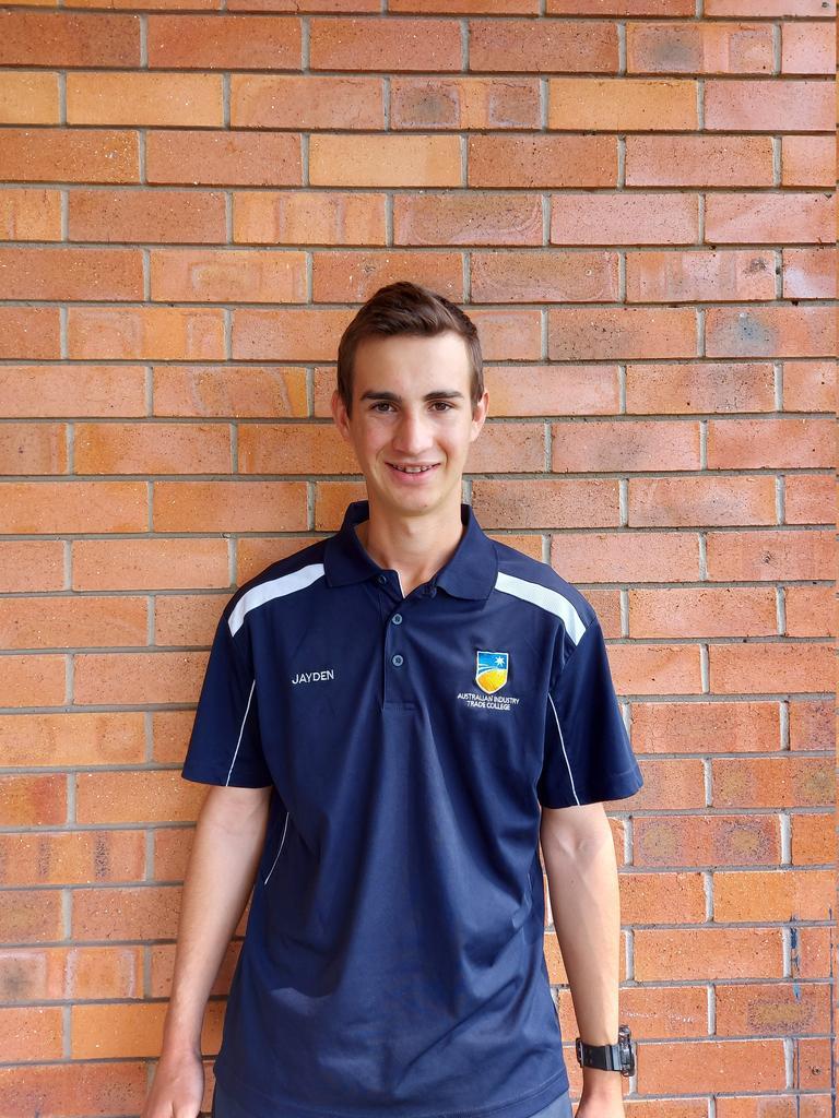 Australian Trade Industry College Ipswich student Jaden Carvolth.