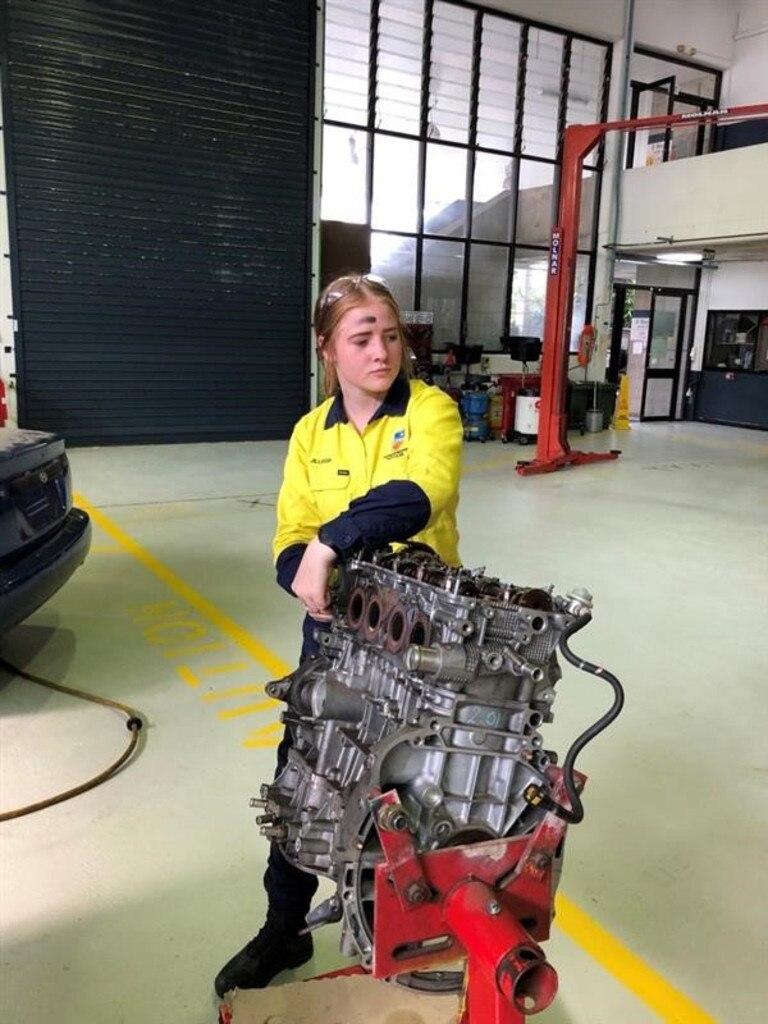 Australian Trade Industry College Ipswich student Jilleigh Grieve.