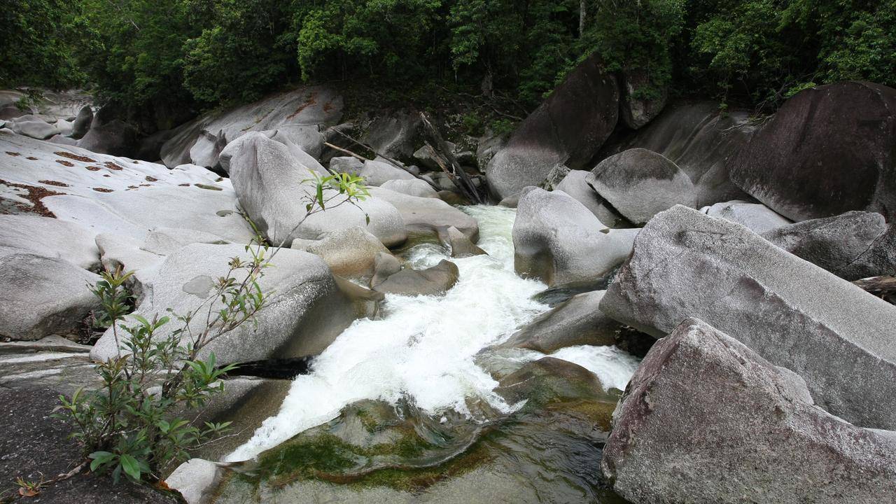 Devils Pool down from the boulders in Babinda. Picture: Francis Brendan