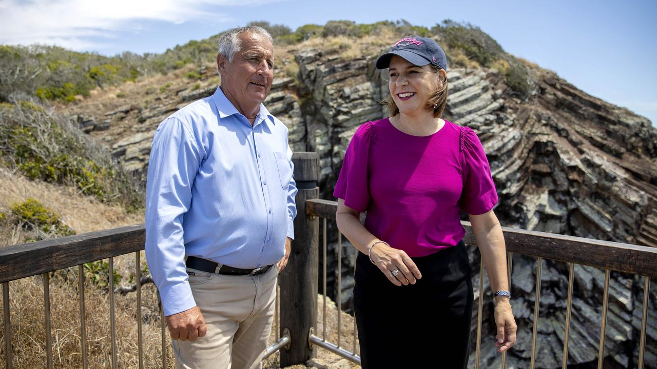 LNP candidate for Keppel Adrian de Groot and LNP opposition leader Deb Frecklington on the Capricorn Coast earlier this week. NCA NewsWire / Sarah Marshall
